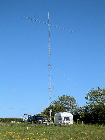 G8BCG 50MHz eme and weak signal antenna system 2009